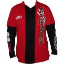 XZOGA V-Neck T-Shirt Long Sleeve Red - versch....